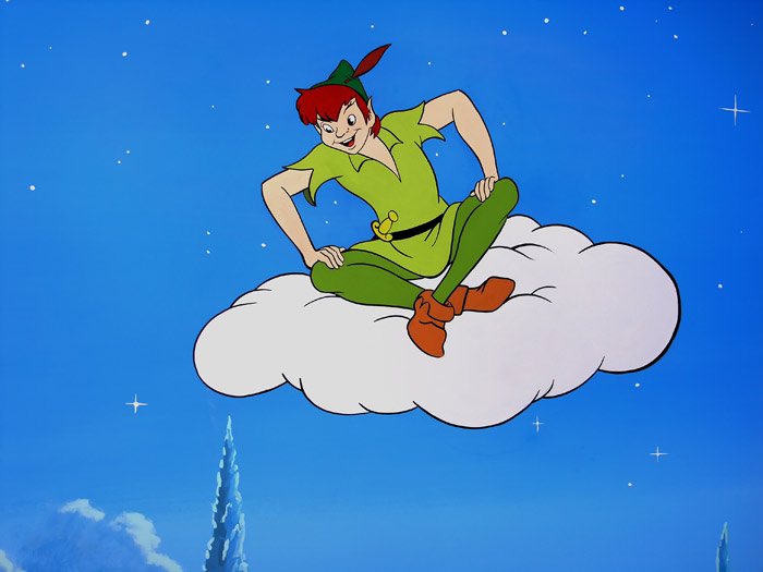 Could Peter Pan really sit on a cloud? (Image: Disney).
