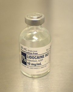 Lidocaine is a type of local anaesthetic. (Image: JL Johnson).