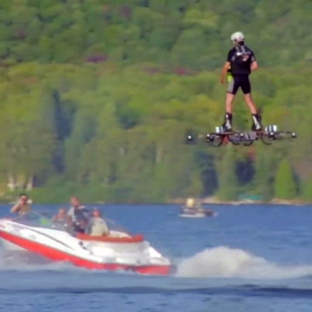 Catalin Alexandru Duru hasa set a world record for the longest distance travelled by hoverboard (Image credit: Guinness World Records).