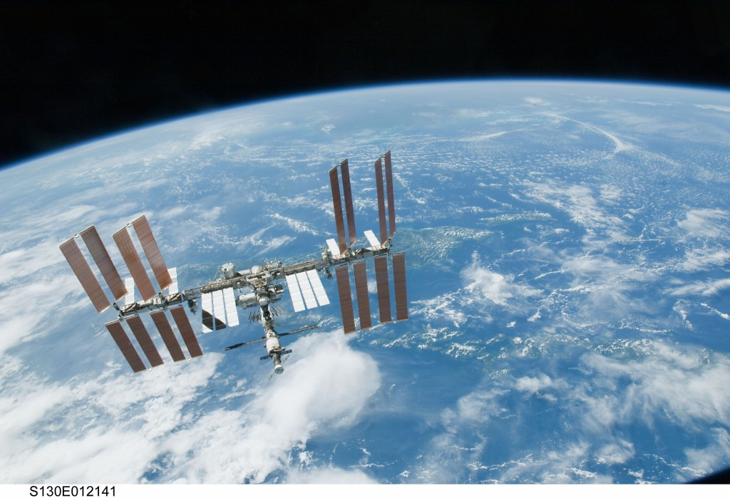Gravity means that the International Space Station orbits the Earth once every 92 minutes. (Image: NASA)