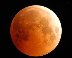 When the moon appears to be red it's commonly known as a blood moon. (Image credit: NASA).