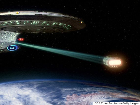 Tractor beams are a common feature in Star Trek. (Image credit: CBS via Getty Images)
