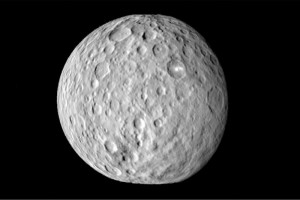 The dwarf planet Ceres, the largest asteroid in the Asteroid Belt. (Image: NASA).
