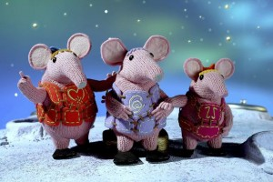 The Clangers, a children's programme about cute aliens who live on the same moon as the Soup Dragon.