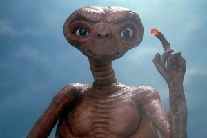 ET, the friendly alien who wanted to phone home.