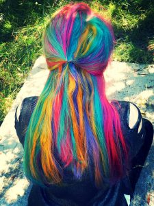 Some people, including me, love to dye their hair different colours. (Image: CasparGirl).